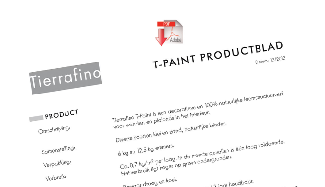 Product sheet T-paint